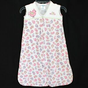 Halo Sleep Sack Wearable Blanket Size M 6-12 Months White Pink Paisley Baby Girl