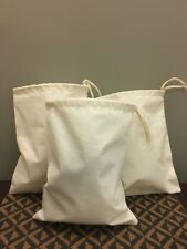 "3""x5"" Cotton Single Drawstring Muslin Bags (Natural color)- Set Of 25"