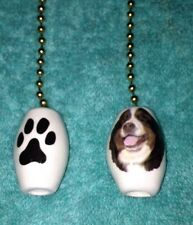 One Bernese Mountain Dog Fan Pull With A Paw Print On The Back 1""