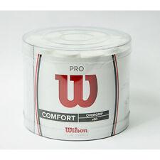 * neu*60x Wilson Pro Overgrip Grip Nastro Bianco Comfort Grip Tennis Racchetta White 60