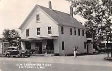 SMITHFIELD, ME ~ C.M. CARPENTER & SON, GAS STATION ~ REAL PHOTO PC ~ u. 1938