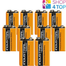 10 DURACELL 9V ALKALINE 6LR61 BATTERIES INDUSTRIAL E BLOCK 6AM6 MN1604 EN22 NEW