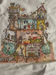 Bothy Thread Cross Stitch - cut thru castle - completed - not framed