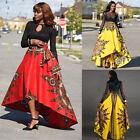 Sexy African Women Print Summer Boho Long Dress Beach Evening Party Maxi Skirt