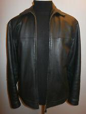 Mens MARKS & SPENCER Real Leather Bomber JACKET Black Blazer COAT Medium 38 40