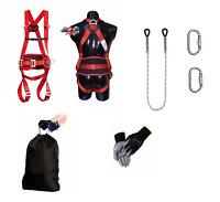 SET Baumpflege Kletterschutz Fallschutz Fallgurt Sicherheitsgurt geprüft DIN361
