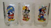 Walt Disney World 25th Anniversary Remember the Magic Set of 3 Glasses McDonalds