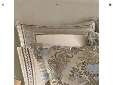 J. Queen New York Jordyn Olivia Floral & Velvet One Euro Pillow Sham Taupe