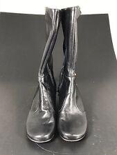 Lisa Nading 'Tiber' Black Italian Leather Boots - EU Size 36.