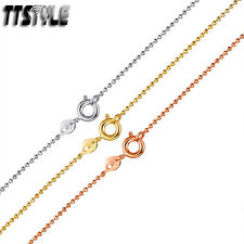 Bead Chain Necklace New Ttstyle 1.5mm Gold Filled Thin