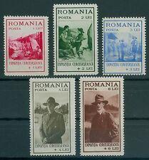 Rumänien 1931 Mi.413-17 ** Pfadfinder,Boy Scouts,König Karl II.,Prinz Nikolaus