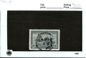 Middlesex Stamp Canada. # 271, Trail British Columbia Cancel, CDS.  cc15