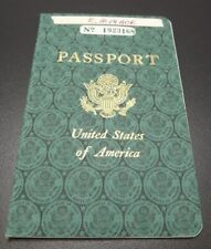 Effie Mona Mack's original Passport issued 1960 with travel stamps