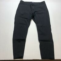 Gap Slim City Pants Black Crop Stretch Size 16 A458
