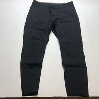 Gap Slim City Pants Black Crop Stretch Size 16 A458