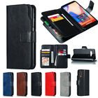 For Samsung S21 S20 S10 A70 A50 A52 Flip Leather Double Card Wallet Case Cover