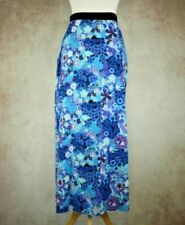 Lowie London Boutique Blue Floral Vintage Style Maxi Long Skirt Size M W 30""