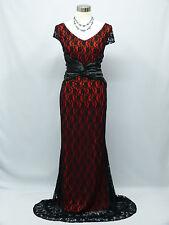 Cherlone Red Ballgown Wedding/Evening Bridesmaid Full Length Formal Dress 16