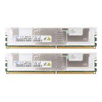 16GB 2X 8GB Server Memory Ram DDR2-667MHz PC2-5300F ECC REG FB-DIMM Registered