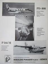 5/1970 PUB PIAGGIO DOUGLAS PD-808 AIRCRAFT AVION PININFARINA P-166M FRENCH AD