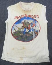 IRON MAIDEN,Trooper/Purgatory British Metal Onslaught 1983 TOUR SHIRT ORIGINAL
