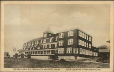 Falmouth Heights Cape Cod MA Terrace Gables c1915 Postcard #1