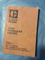 Caterpillar 3304 Vehicular Engine Cat 78P-78P18798 Parts Manual Book Shop