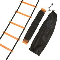 Rung Agility Speed Training Ladder Footwork Fitness Football Workout Exercise