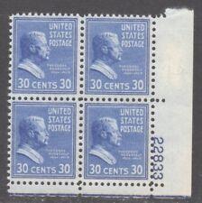 U.S. STAMP #830 PB4 30c ROOSEVELT - MINT