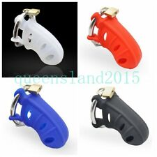 New Design Male Silicone Chastity Locker Shackle Bird Cage Mens Cock Belt Device