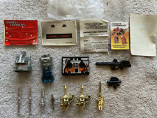 Vintage Transformers G1 LOT BRUTICUS BUZZSAW HEADMASTER MISSILES GUNS STICKERS