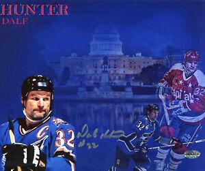 Dale Hunter Autographed 8x10 Washington Capitals Caps Custom Photo
