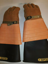 W.H. Salisbury & Co. Rubber and Leather Gloves Product No.1168 & 3Ek09 nw size 9