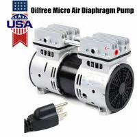Oilless Diaphragm Vacuum Pump Industrial Oil Free Piston Vacuum Pump 550W 110V