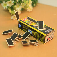 5/8/10/20/30Stk  Mini Tafel Tafel Büro Home Holz Nachricht Etiketten Halter Z2D7