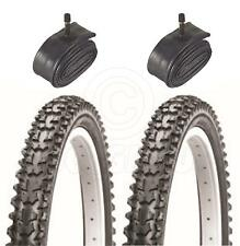 2 Bicycle Tyres Bike Tires - Mountain Bike - 26 x 2.10 - With Schrader Tubes