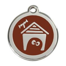 Red Dingo Dog Cat Pet ID Tags Charms FREE Personalized Engraving DOG HOUSE