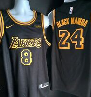 NWT Black Snakeskin Los Angeles Lakers (BLACK MAMBA) Kobe Bryant with #8/#24, XL