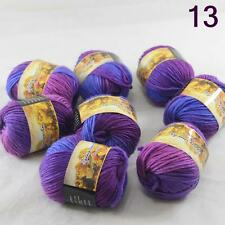 Sale Lot 8 Skeins NEW Knitting Yarn Chunky Hand-woven Colorful Wool scarves 13