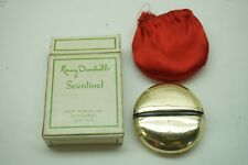 Vintage Perfume Mary Dunhill Scentinel Sterling Silver Glass Bottle Travel Box