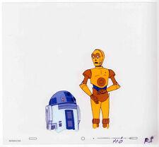 STAR WARS REPRO 1984 . R2-D2 &C-3PO DROIDS ANIMATION CELLULOID CELL . NOT DVD