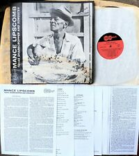 ACOUSTIC BLUES LP: MANCE LIPSCOMB Texas Sharecropper and Songster ARHOOLIE 1001