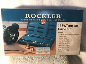 Rockler 11pc. Template Guide Kit For Router - Brand New