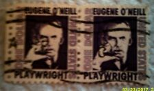 1967 Scott 1294 U. S. Eugene O'Neill, Author two used $1 stamps off paper