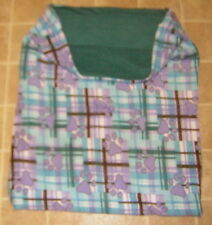 PAWS on PLAID ITALIAN GREYHOUND BOSTON FOX TERRIER 24x30 SNUGGLE DOG  BED