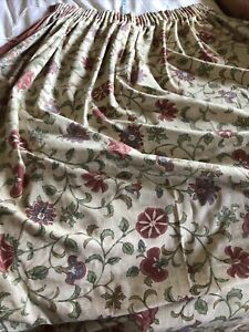 """Dorma Kalamkari V&A  Collection Fully Lined Curtains 66"""" W x 82"""" L pair VG"""