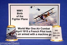 WW1 Birth of The Fighter PlaneThimble+Photo Card B/148