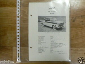 S04-SIMCA TYPE 8 CYLINDER 1957-1961 -TECHNICAL INFO