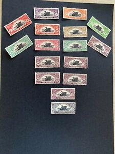 Western Australia Revenue Duty 1904 1d RED SET TO 100 pound black 16 stamps MNH
