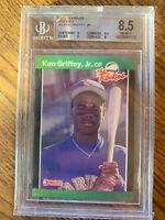 Ken Griffey Jr 1989 Donruss The Rookies RC Rookie Card BGS 8.5 NM-MT+🔥🔥🔥